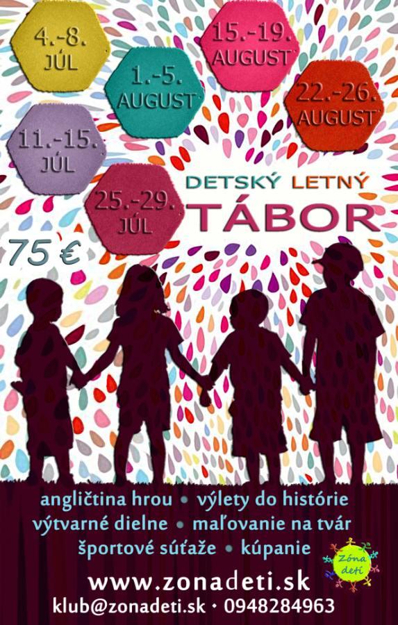 Denné letné tábory pre deti Malacky